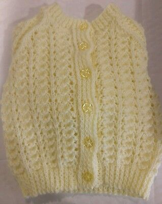 Babies hand knitted  wool cardigan age 9-12months