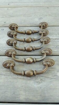 Vintage Large Metal Drawer Pull Drawer Handle Set of 5