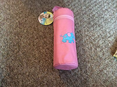 Bn Babys First Pink Zip Thermal Insulated Bottle Hanging Bag Holder,cool Or Warm