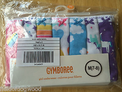 NWT Gymboree Girls Panties Underwear 7pair 7 days of the week 5/6, 7/8, 10/12