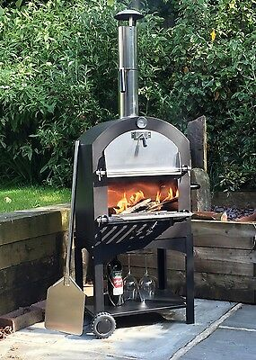 Cove Outdoor Pizza Oven BBQ Smoker Stainless Steel Oven - FREE FITTED COVER