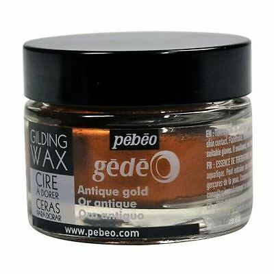Pebeo Gedeo Gilding Paper Craft Emboss Rub Wax 30ml Tub Pot - Antique Gold