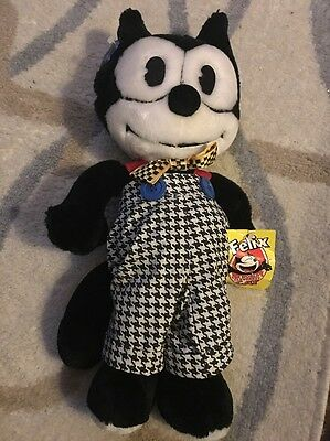 "15"" Felix The Cat W/Outfit Plush Toy By Applause 1988"