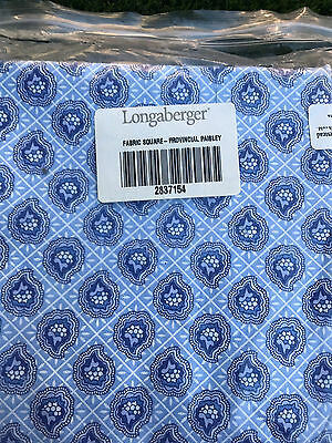 """new Longaberger PROVINCIAL PAISLEY fabric 45"""" square table cover and 8 napkins"""