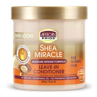 African Pride Shea Butter Moisture Intense Miracle Leave in Conditioner 425 gm