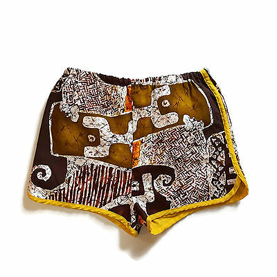 Vintage Grubb Stubb Swim Trunks Tribal Tiki Bathing Suit 70s Robert Bruce USA 36