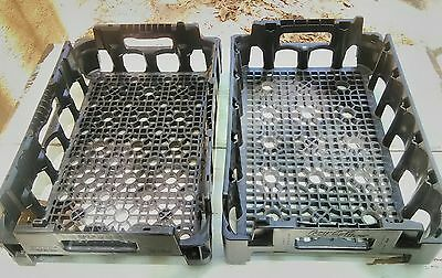 2 Plastic Coca Cola Crate Tray Carrier Black Stacking Coke