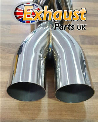 "76mm 3"" Ideal Tailpipe Collector Exhaust Y Joiner Custom Fabrication 2 into 1"