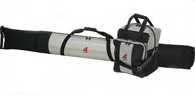 OpenBox Athalon Deluxe #135 Two-Piece Ski and Boot Bag Combo Boxed, Silver/Blac