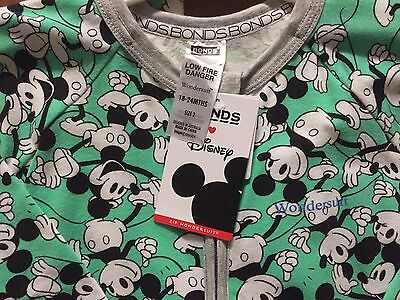 Bonds GREEN Disney Mickey Wondersuit, Brand New with Tags - Size 2
