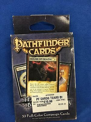 Pathfinder Role Playing Games Tears at Bitter Manor 53 Full Color Campaign Cards
