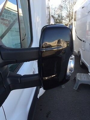 Ford Transit Jumbo New   Mirror Protector / Guards - White - Vc46Fo0102