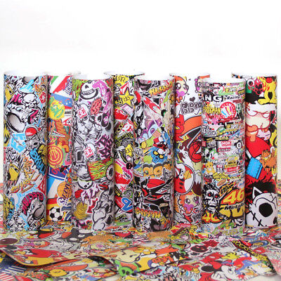 Sticker Bomb Vinyl Wrap Film Bubble / Air Free Super Hero, Energy Drinks, Comic