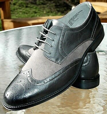 Brand New Alpine Swiss Men's Wing Tip Dress Shoes Lace Up Oxfords Gray Sz: 12