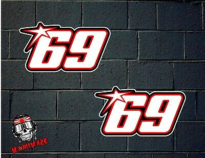 Pegatina Sticker Autocollant Adesivi Aufkleber Decal 2X  Nicky Hayden 69