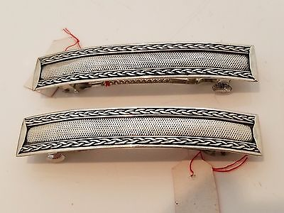 Vintage sterling silver 925 hair barrette offer is for (1) one