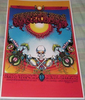 The Grateful Dead 1968 Avalon Ballroom Replica Concert Poster