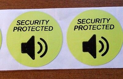 """2,000 Checkpoint® Compatible RF Label 8.2MHz Round w/""""Security Protected"""" Logo"""