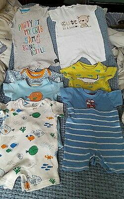 Baby boys 3-6 month summer romper bundle Inc Next and M&S