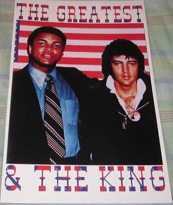 Elvis Presley & Muhammad Ali The Greatest & The King Replica Poster W/to