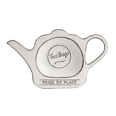 T&G Pride Of Place Tea Bag Tidy White