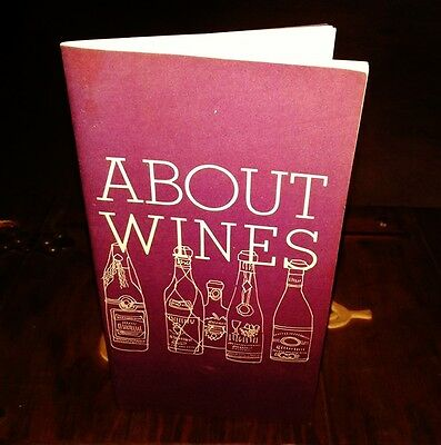 1964 J. L. Hudson's About Wines 30 page booklet Detroit Michigan advertising