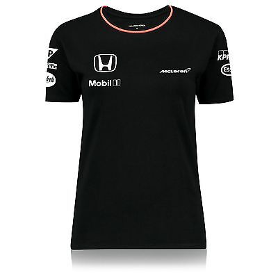 Official McLaren Honda F1 Women's 2016 Team Set Up T-Shirt, Black
