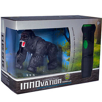 REMOTE CONTROL GORILLA Silver Back LED Eyes ACTION SOUND Effects Infrared Torch