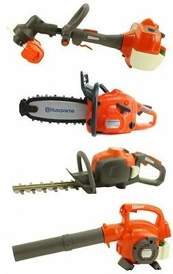 Husqvarna Toy Lawn Equipment Package - Hedge & Line Trimmer Chainsaw Leaf Blower