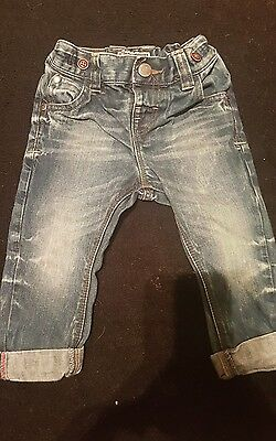 GREAT CONDITION Next Baby Boys Bleached Straight Leg Jeans Size 12-18M