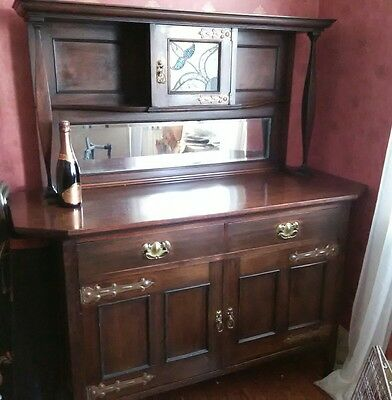 ARTS AND CRAFTS Antique sideboard, credenza, buffet, dresser chiffonier