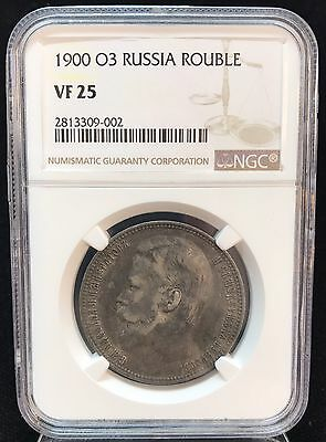 1900 O3 Russia Rouble NGC Certified VF25, #471
