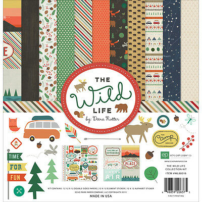 """Echo Park Collection Kit 12""""X12"""" The Wild Life WL88016"""