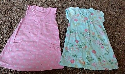 Bundle of 2 M&S baby dresses 3-6 months