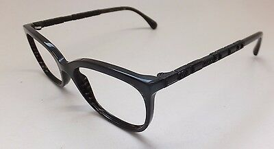 Frame Chanel 3305-B Women Eyeglasses Black Cat Eye Bijou Crystal Italy BE3/21