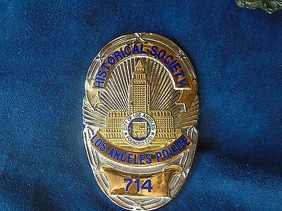 Vintage LAPD Historical Society Police Badge Obsolete Antique Rare Los Angeles