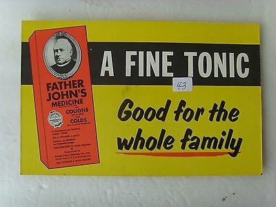 """Antique Medicine Advertising Sign 7"""" x 11"""" cardboard early 1900's 28/43"""