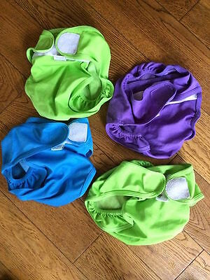 4 X Little Lamb Waterproof Cloth Nappy Wraps / Covers Size 3 Large