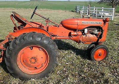 Vintage 1948 Allis Chalmers Row Crop Tractor with working Three Point hook up