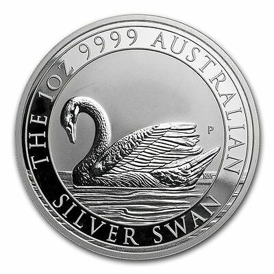 Australia 2017 1 oz SILVER SWAN BU FROM MINT ROLL. SOLD OUT AT MINT.