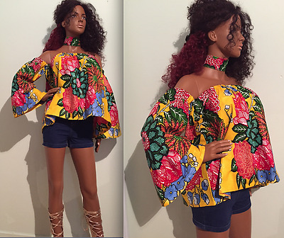 Nigerian set Brand new woman African top+neck piece,African top set,afro clothes