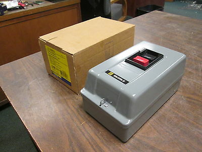 Square D AC Manual Starter 2510MBG2 Type 1 Enclosure Size: M-0 New Surplus