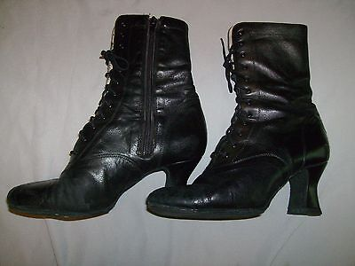 LaDuca sz 39 Black Annie Character Can Can Stage Boots Black Leather