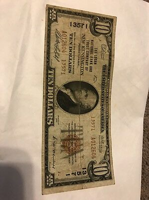 1929 $10 Type 2 The Logan National Bank Of New Kensington Pennsylvania