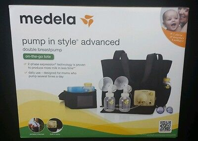 Medela Electric Breast Pump In Style Advanced On-the-Go Tote Bag SEALED BL22