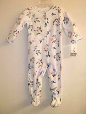NWT Infant Girl Carter's Floral Print Footed Pajamas Sleeper Size 9 months