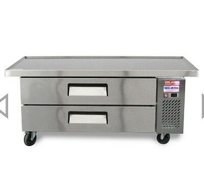 "CHEF BASE 60"" Refrigerated Grill Stand 2 Draw Equipment Table TRCB-60-52 Drawer"