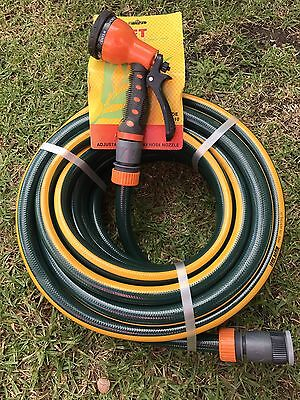 "20M HOLMAN 18MM Durable Garden Water Hose With 3/4""-1/2"" Fittings 8/10 KINK FREE"