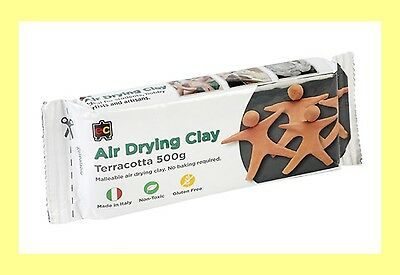 500g Terracotta Air Drying Clay - Modelling clay. Pottery, MADE IN ITALY