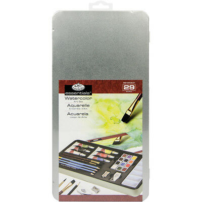 Watercolor Painting Art Set W/Tin  RSET2402